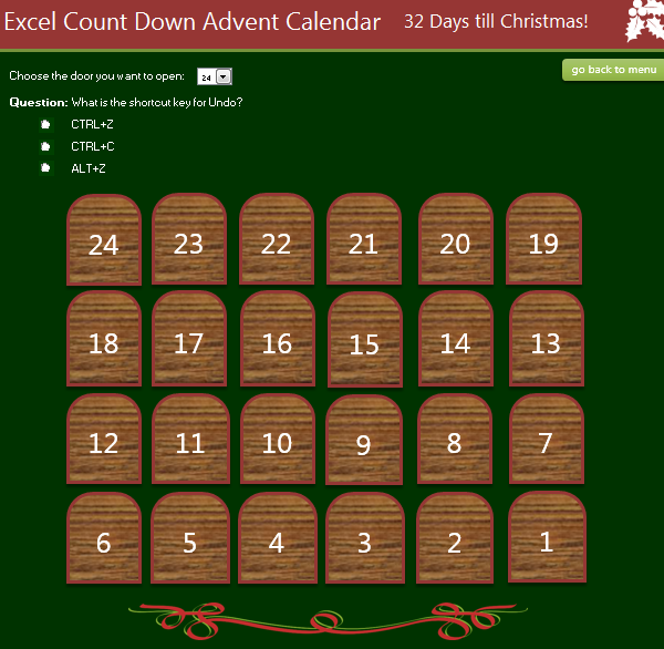 Excel Advent Calendar 2015
