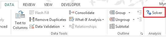 Excel Solver Add-in