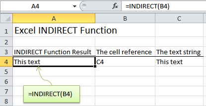 INDIRECT Excel
