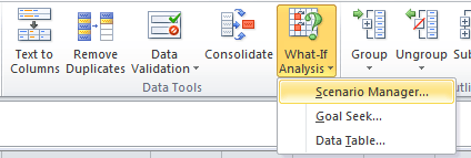 Excel Scenario Manager
