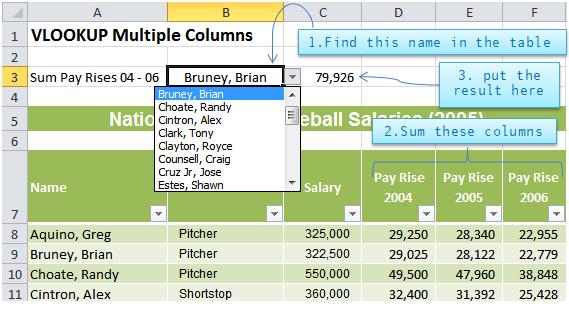 Excel VLOOKUP Multiple Columns